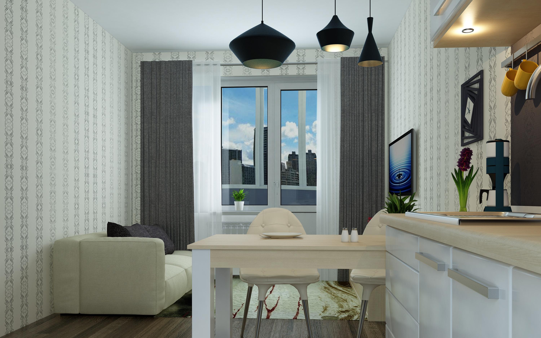 Планировка Двухкомнатная квартира площадью 37.44 кв.м в ЖК «КудроВО!»